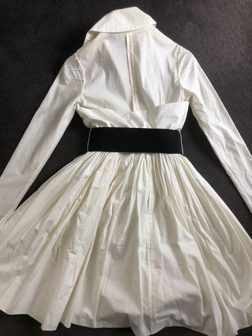 Vintage Willow lemon shirt dress with bubble skirt and belt