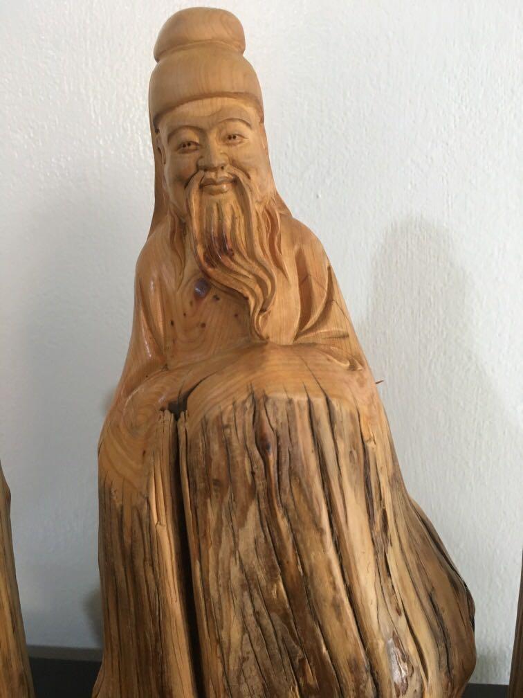Wooden fu lu shou