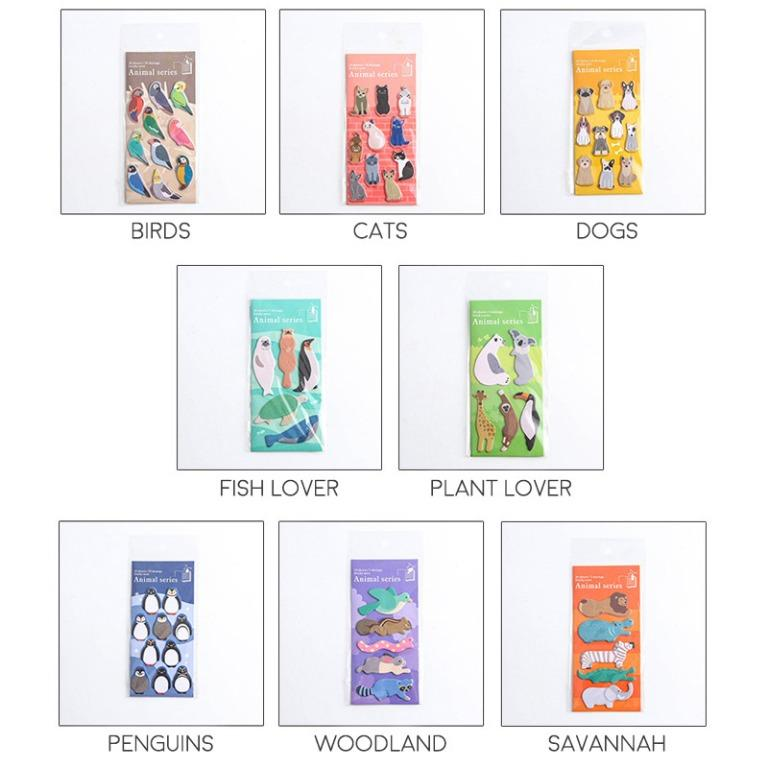 Zoo Animal Series Label Sticky Notes