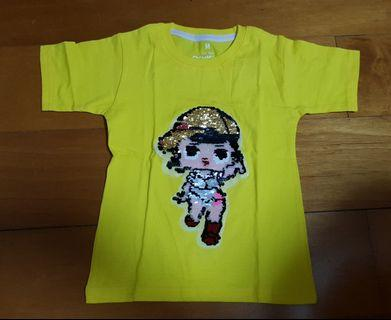 NEW - IMPORT KAOS USAP SEQUIN BOLAK BALIK - SUPERHERO & GIRLY