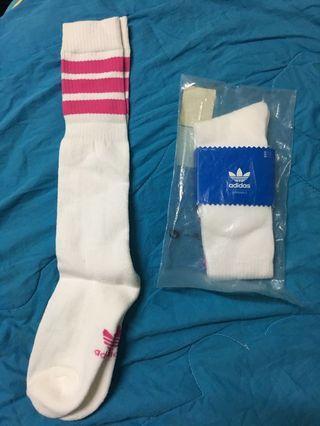 正版 Adidas長襪 桃粉色