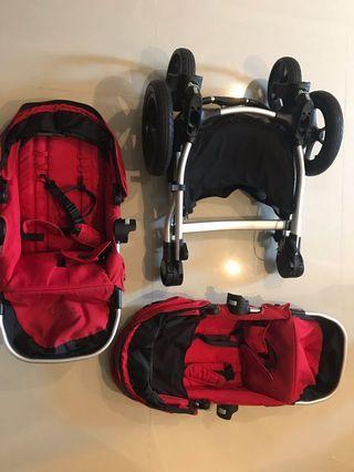 雙人推車便宜出清-baby jogger city select