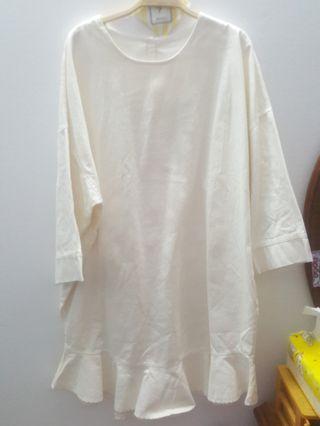 白色單寧洋裝