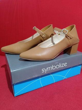 Sepatu Symbolize Gaudy Heels Coklat No 37