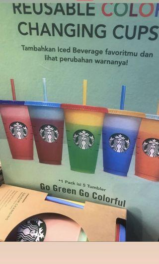 Bottle cup starbucks color change