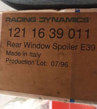 Racing Dynamics for BMW E39 Rear Window Spoiler