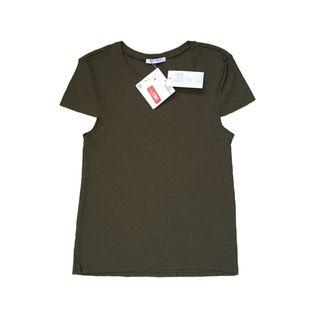 [FREE DELIVERY] Zara Seamless Olive Tshirt