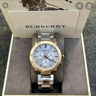 Burberry The City Two Tone Chronograph Watch BU9751