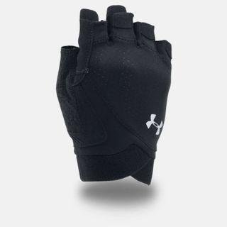 """""""UA CoolSwitch Flux """" Under Armour UA 全新 黑色 漆皮 手套 半指手套 露指手套 重訓手套 健身手套 1292064"""