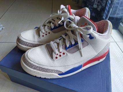 新竹us9 Jordan 3 AJ3 Retro 美國隊配色