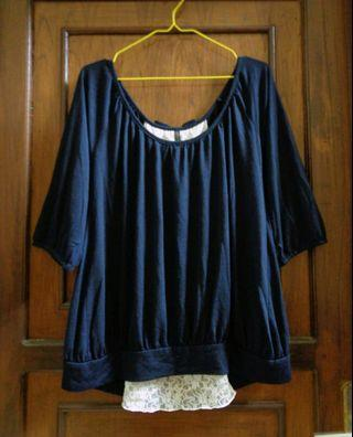 Freesize cotton and lace top #1010flazz