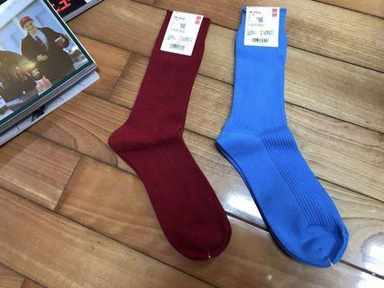 👦🏻uniqlo 紳士襪 長襪 黑色 藍色 muji gu
