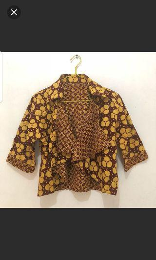 Chocolate yellow batik outer