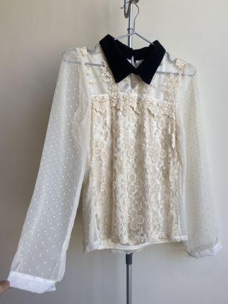 白色仙氣上衣