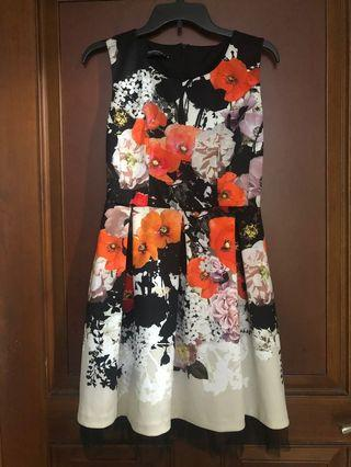 Rina Scimento Floral Dress Made in Italy