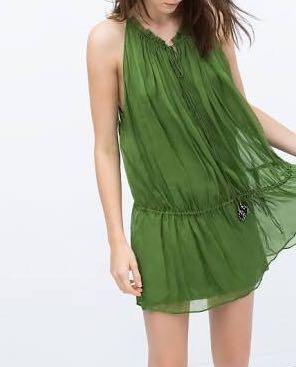 ZARA Green Mididress