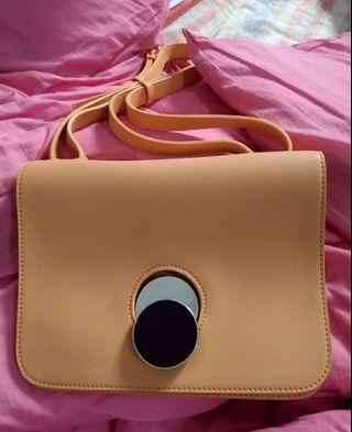二手 黃色小包 手提包 肩背包 斜背包 手拿包