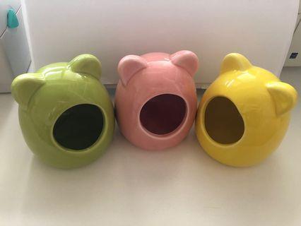 陶瓷窩(淺綠、黃色)