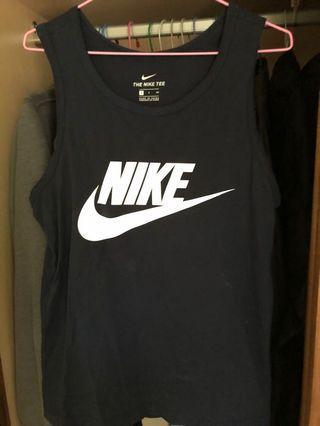 Nike 深藍背心 size :s