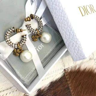 Dior 2019 new rounds pearls drop earrings