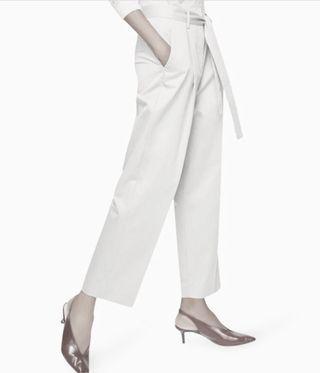 MANGO white rayon pants
