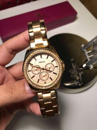 Fossil  BQ3316 Rosegold Analog Watch
