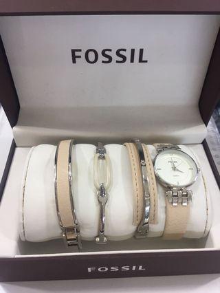 Fossil Watch & Bracelet Set