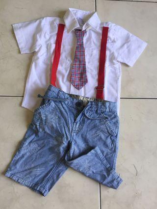 1 set kemeja Gymboree dan celana anak laki-laki