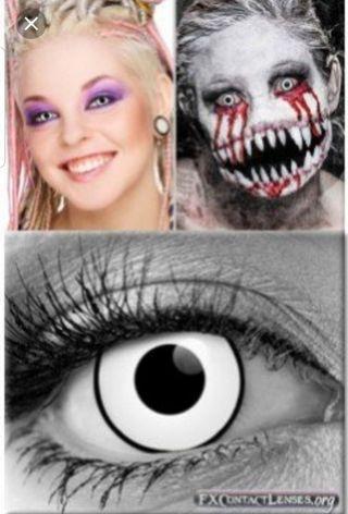 Halloween  white  contact lens