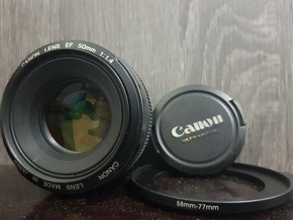 Canon EF 50mm f1.4 USM (FREE Step Up Ring)