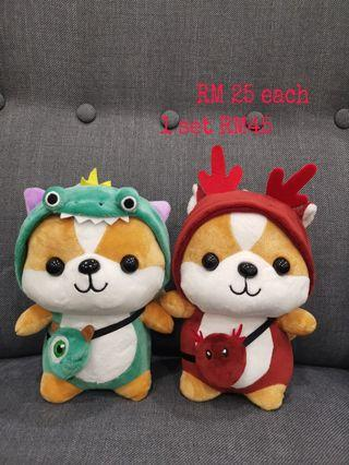 Squirrel with costume plush toy