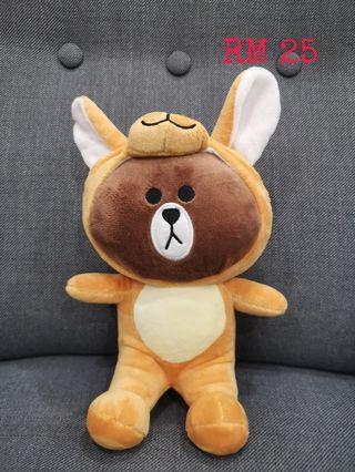 Line Brown plush toy