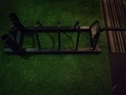 Gym weight plate loader