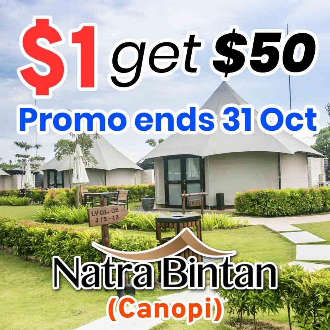 $1 get $50 CASH Voucher for Natra Bintan Resort LIMITED Time Deal [WeekendGoWhere Singapore]