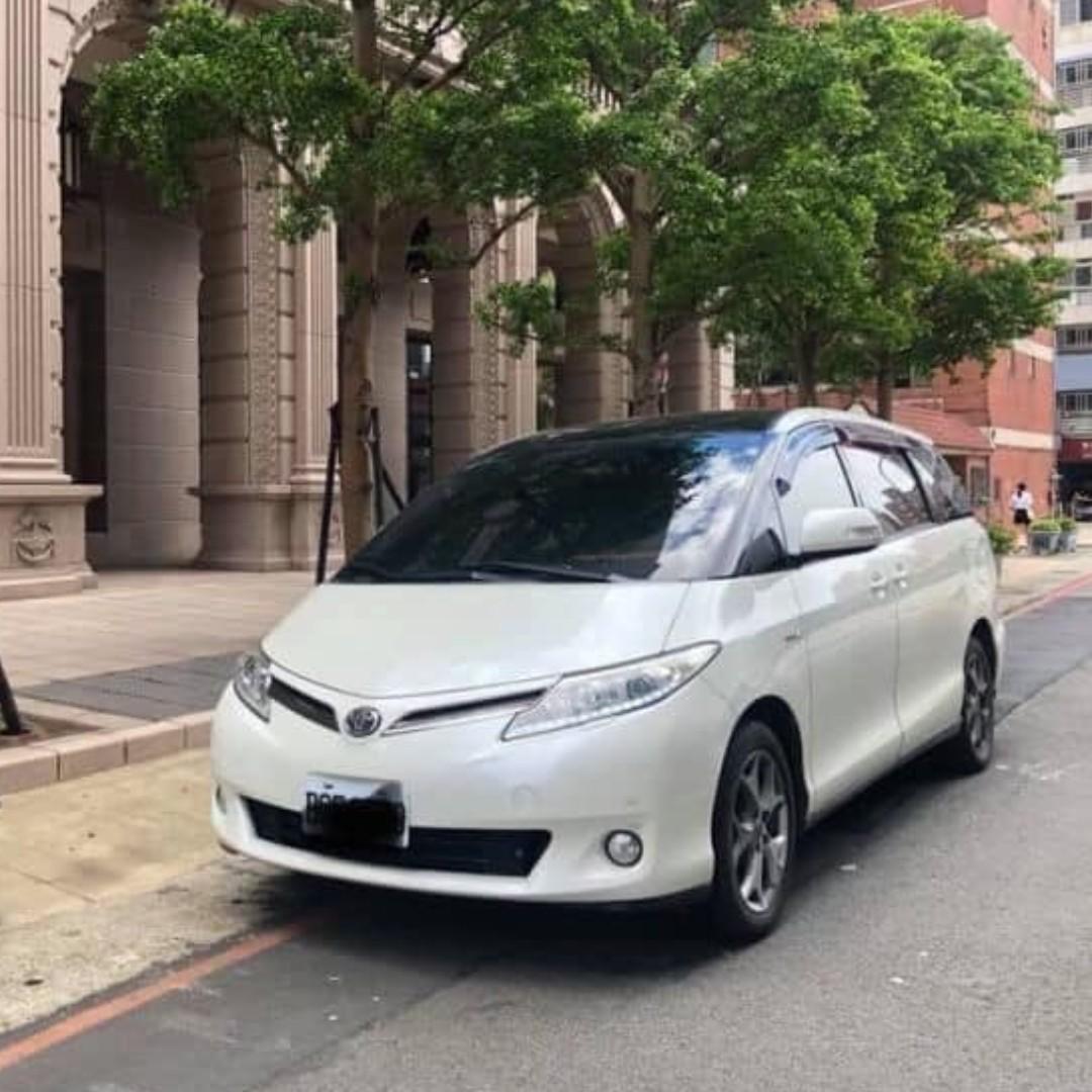 2007年 Previa 白 3.5 天窗 IKEY 車在桃園