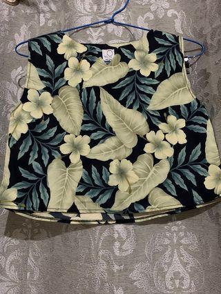 Flower Crop Top & Skirt