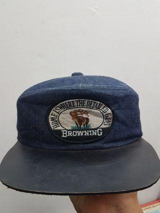 Cap Jeans Leather Browning Japan