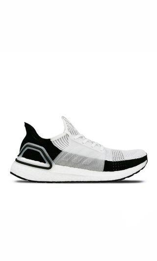 ADIDAS ultra boost 19 黑白 編織 慢跑鞋