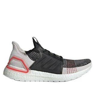 ADIDAS ultra boost 19黑粉白 編織 慢跑鞋