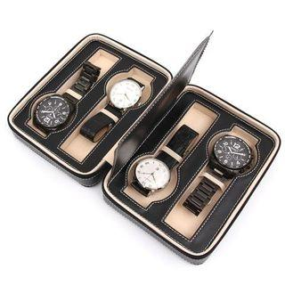 4 Slot Travel Watch Holder Case Pouch with Zipper