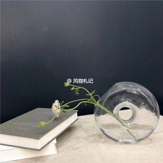 Irregular Round Flower Glass Vase