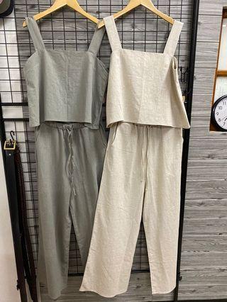 🇰🇷韓國無袖亞麻套裝