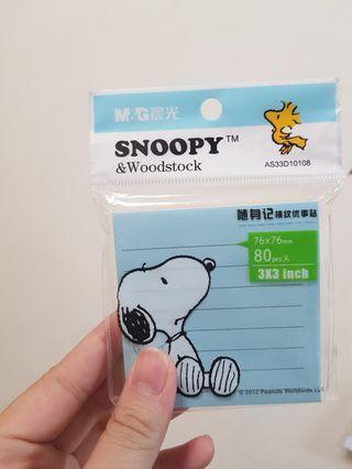 Snoopy 便利貼(內有四色)