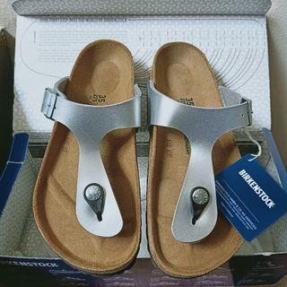 [NEW] Birkenstock Size 35 | Gizeh | Silver | Sandal Wanita Trendy