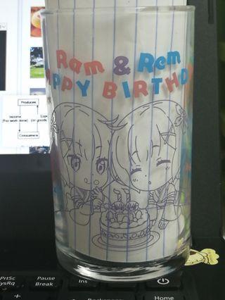 Rem & Ram Birthday Glass