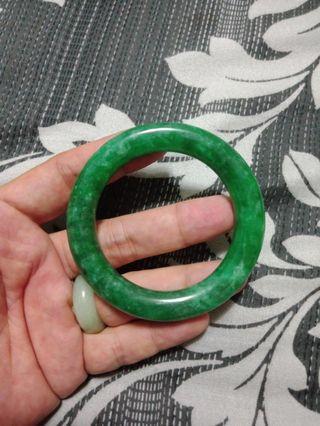 翡翠滿綠圓骨鐲