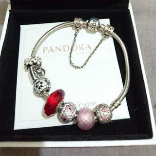 PANDORA 潘朵拉純銀925手鏈 19cm pandora