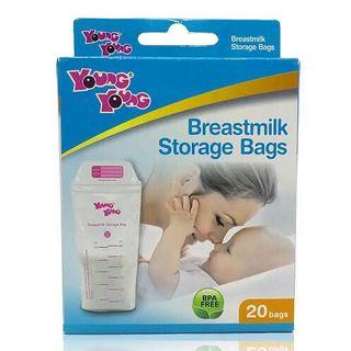 New - Young young breastmilk storage bag - 300 ml 20 pcs