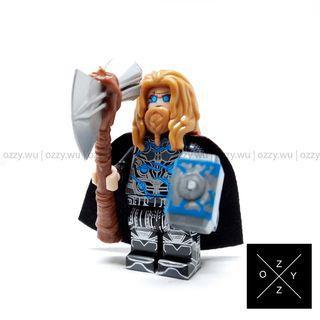 Lego Compatible Marvel Minifigures : Thor (End Game Battle Suit)