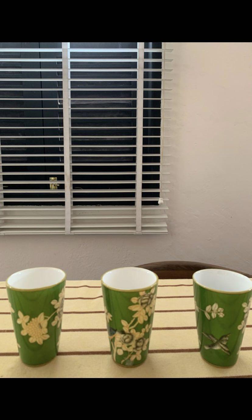 Free: 3 Ceramic Floral Glasses